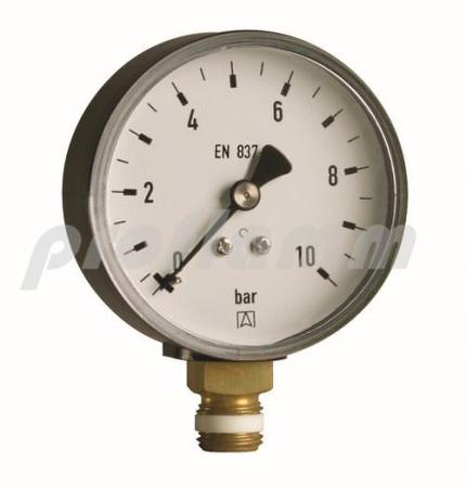 "Rohrfedermanometer 1/4"" - 0-10 bar"